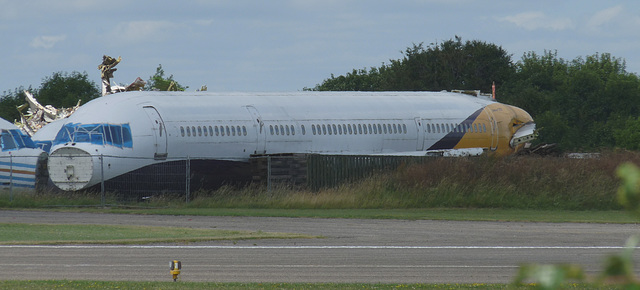 Fuselage Remains of Boeing 757-2T7 G-DAJB (ex-Monarch)