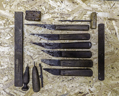 Bootmakers knives and tools