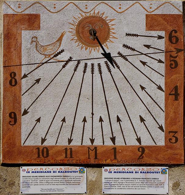 Usseaux : le meridiane di Balboutet