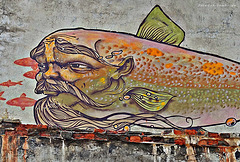 the fish god on the wall (Huzhir/Siberia)