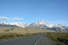 Argentina, National Park of Glaciers when Approaching from the South