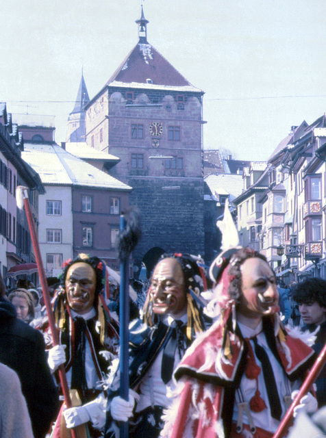 Narrensprung in Rottweil 1985 - (Diascan)