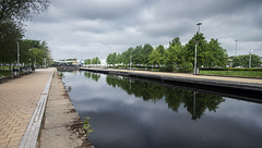 Forth and Clyde Canal and the Swan-Canopy Bridge