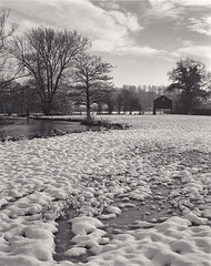 Derbyshire Wye - Snow by Black Barn