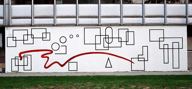 mur peint sur le bâtiment LMFA