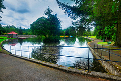 HFF from the Boating Lake, Station Park, Moffat