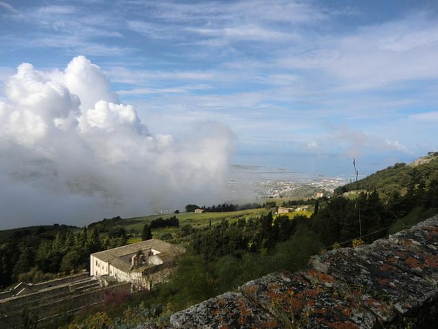 oberhalb von Trapani, Sizilien