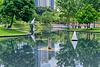 Park with lake in Kuala Lumpur City Centre (KLCC), Malaysia