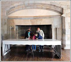 Dinan (22) journées du patrimoine : Salle du Banquet au château.