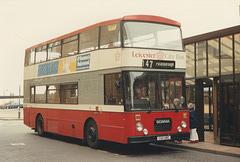 Leicester Citybus 112 (C112 UBC) in Peterborough – 2 Apr 1988