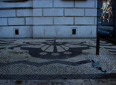 Lisbon' Coat of arms in a rainy day