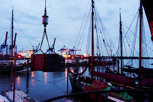 Neumühlen Abendstimmung Hafen // -elbblick-05531