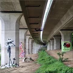 under the highway ...