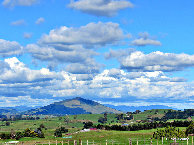 Mount Pirongia Under Cloud