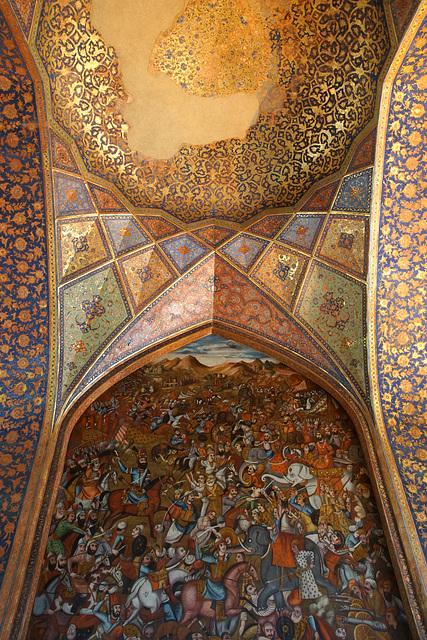 Inside Chehelsotoon Palace, Isfahan