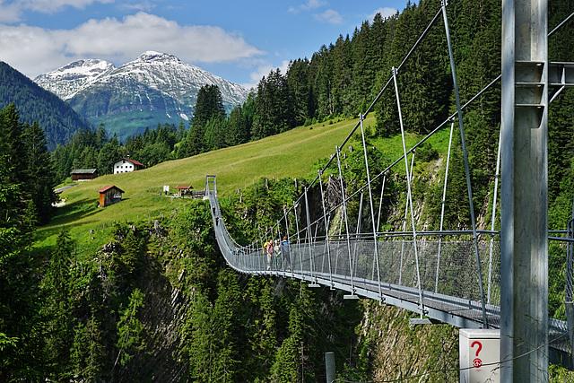 Die längste und höchste Hängebrücke Österreichs (bis 2014) - The longest and highest suspension bridge in Austria