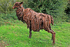 "Rusty the Lincoln Longwool ~ Sculpture along The ""Water Rail Way"""