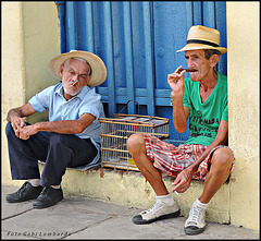 enjoying the cigar (Trinidad/Cuba)