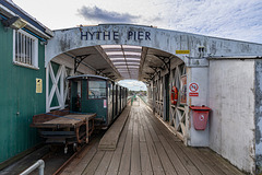 Hythe Pier Railway - the last and only stop