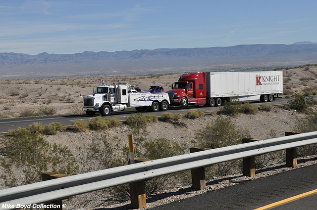 quality towing kw t800w towing a knight ih prostar van i40 needles ca 02'16