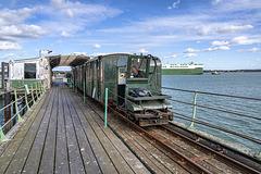 Hythe Pier Railway - the train driver