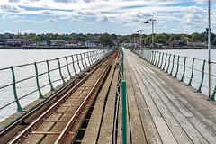 Hythe Pier Railway - the straight rails