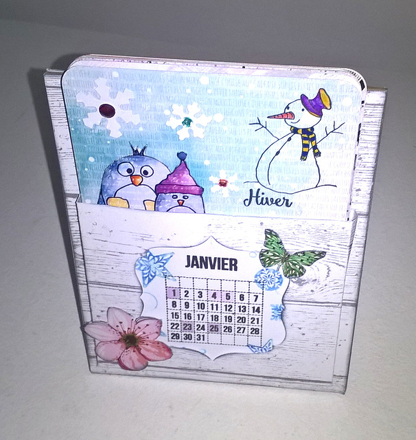 calendrier( kit  scrap plaisir)