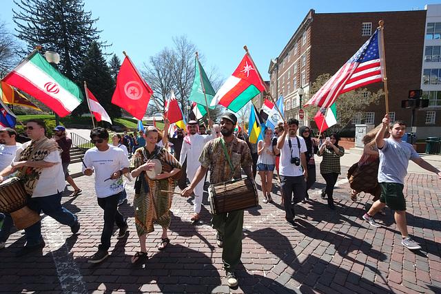 The flag parade
