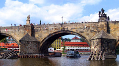 CZ - Prague - Charles Bridge, seen from the Vltava