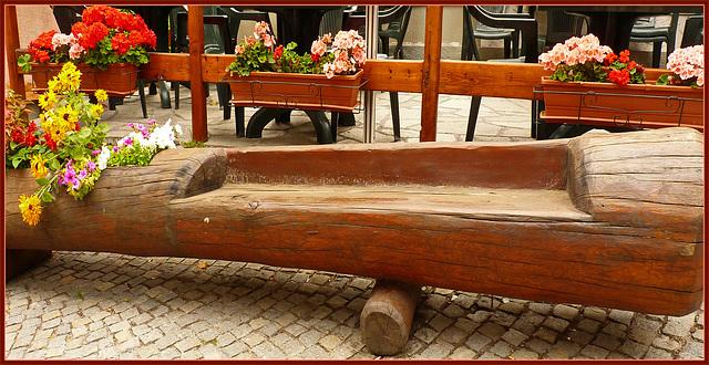 Bardonecchia : Panchina relax tra i fiori - (882)