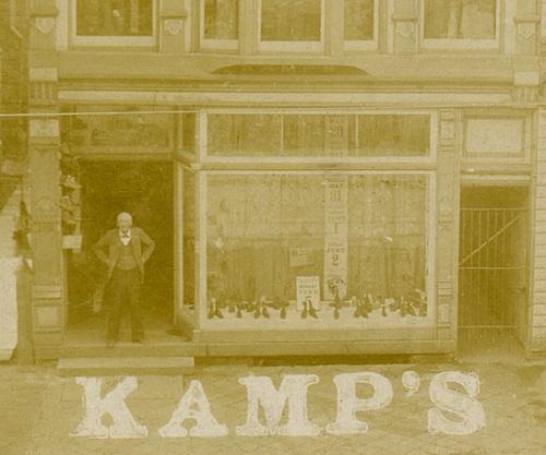 Jacob Kamp's Shoe Store, Lock Haven, Pa., ca. 1890s (Detail Left)