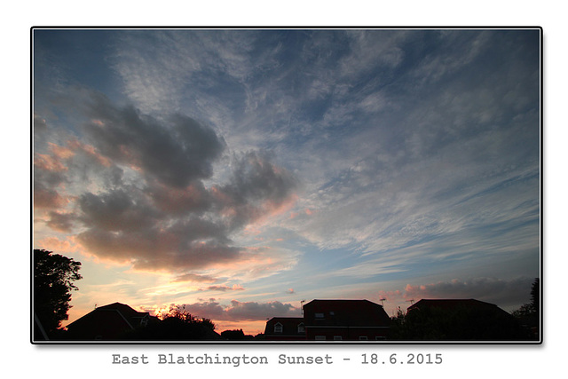 East Blatchington sunset - 18.6.2015