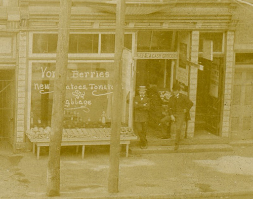 Jacob Kamp's Shoe Store, Lock Haven, Pa., ca. 1890s (Detail Right)