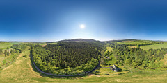 Drumtochty Woods and St Palladius Church 04-06-2016 Aerial Photosphere