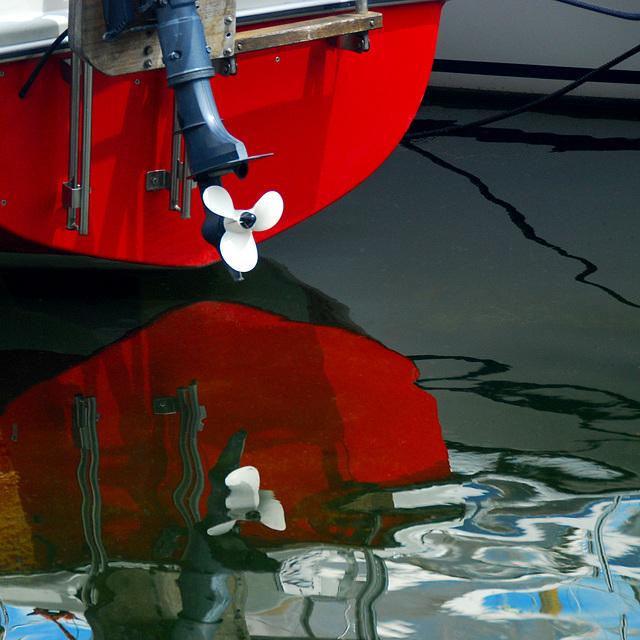 Das rote Bootsheck