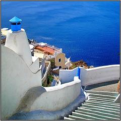 Santorini :  Θήρα, il mare delle Cicladi