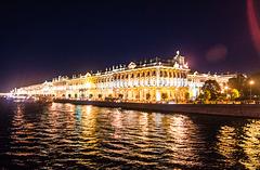 San Petersburgo de noche.