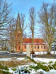 Uelitz, Dorfkirche Januar 2019