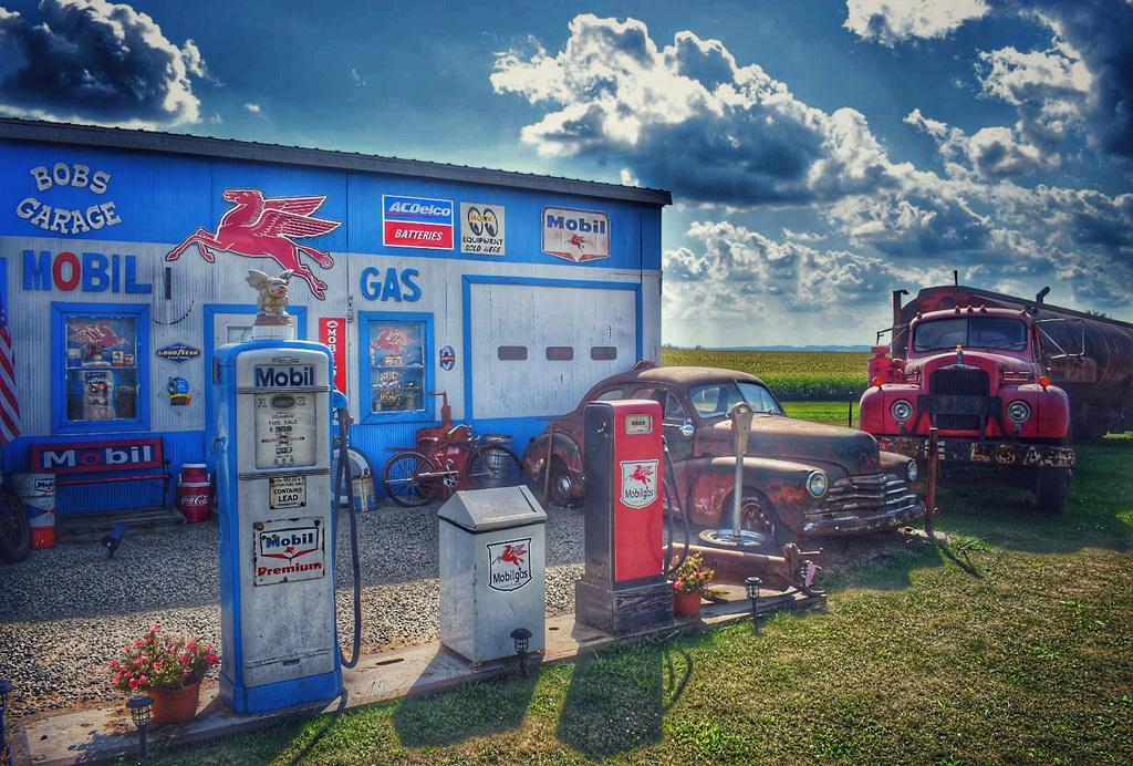 bob's garage....