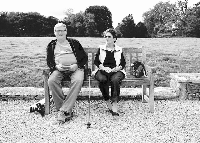 Couple at Lacock Abbey, October 2013