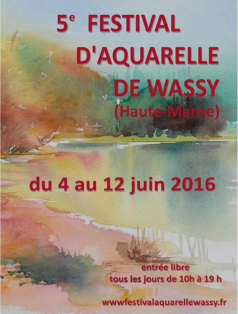 J'ai été sélectionnée au Festival d'Aquarelle de Wassy