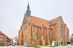 Bad Wilsnack, die Wunderblut-Kirche St. Nikolai