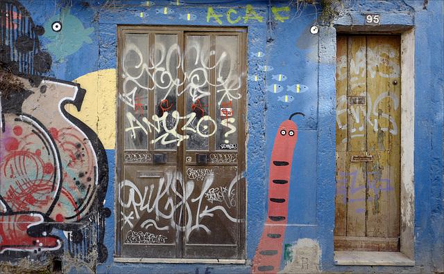 Setúbal, Street Art, peixes