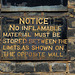 No inflamable material...