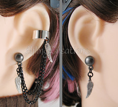 Wing Cartilage Chain Earrings