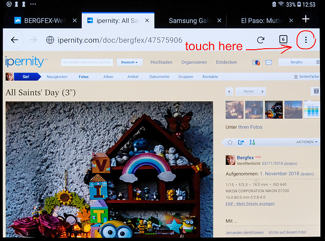 Activating Desktop Modus on Touch Screen (1)