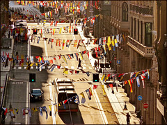 Genova : Grande sbandieramento navale per la Festa del 7 luglio - (953)