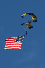 Unfurling the flag