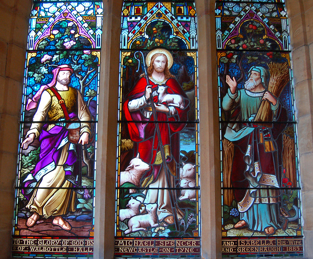 Stained Glass Memorial Window to Michael and Isabella Spencer, St Aidan's Church, Thorneyburn, Northumberland