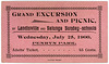 Grand Excursion and Picnic Ticket, Penryn Park, July 25, 1900